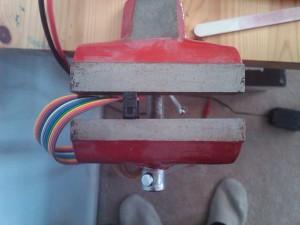 Crimping the ribbon cable header