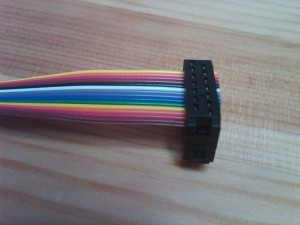 IDC ribbon cable with header