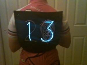 Speed Vest lit up